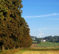 Free Trees Alley And Wind Turbine Stock Image - 2422981