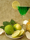 Free Martini Glass With Limes Royalty Free Stock Images - 2428809
