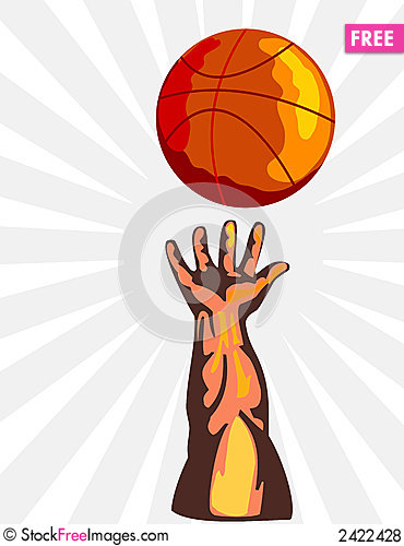 Basketball And Hand Rebound - Free Stock Photos & Images - 2422428 ...