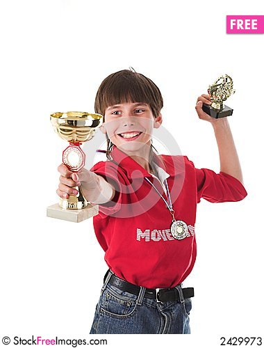 Free Boy Winning In Competition Stock Photos - 2429973