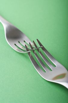 Free Two Forks Crossed Stock Image - 2420101