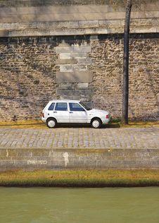Free Lone Car Royalty Free Stock Image - 2420576