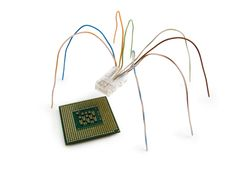 Free Spider And A Microcircuit Stock Image - 2421431