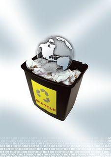 Free Bin With Globe Stock Photos - 2422453