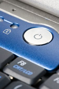 Free Power-Button Of A Laptop Royalty Free Stock Photos - 2422748
