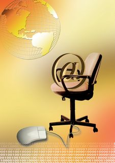 Free Chair And Mouse Royalty Free Stock Photography - 2422817