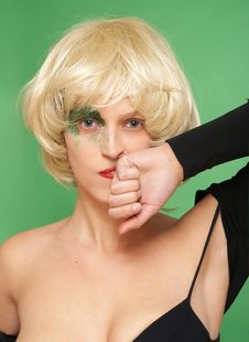 Free Beautiful Girl In A Blond Wig. Stock Image - 2423091