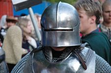 Free Middle Age Knight Portrait Royalty Free Stock Photography - 2424437