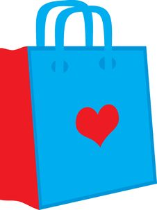 Free Bag Heart Royalty Free Stock Image - 2425066