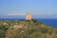 Free Hilltop Normand Tower. Sea Sky Royalty Free Stock Photography - 2425587