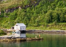 Free Norwegian Coastal Home Stock Images - 2426784