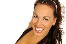 Free Laughing Sexy Brunette Royalty Free Stock Photography - 2426987