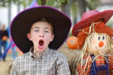 Free Boy In Autumn Stock Image - 2427061