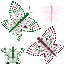 Free Four Stylized Butterflies Stock Image - 2428601