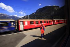 Free Passing Train Royalty Free Stock Photography - 2429997