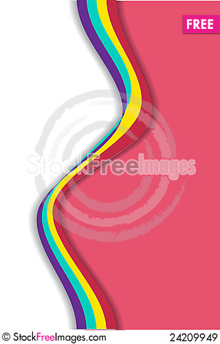 Free Abstract Wavy Background Royalty Free Stock Images - 24209949