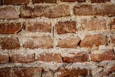 Toned Brick Wall Grunge Background Or Texture Stock Images