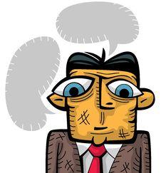 Free Sad Businessman Thinking Royalty Free Stock Images - 24200949