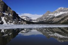 Free Bow Lake. Royalty Free Stock Photos - 24201698