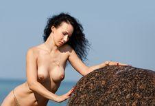 Nude Woman Sunbathing Royalty Free Stock Image