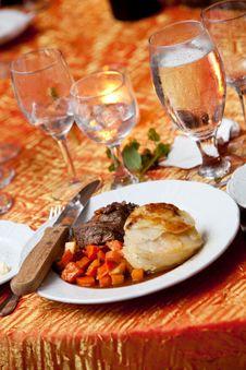 Wedding Dinner Stock Photography