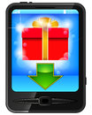 Free Cell Phone And Gift Royalty Free Stock Images - 24210389