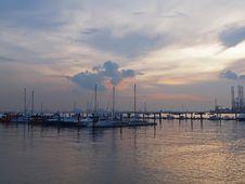 Free Sunset At Marina Stock Photography - 24211722