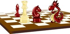 Free Chess And  Dragon Stock Photo - 24216510