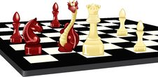 Free Dragon And Chess Royalty Free Stock Image - 24216516