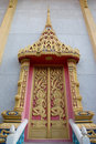 Free Decorate Door At Thai Temple. Royalty Free Stock Photos - 24227538