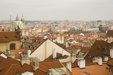 Prague Rooftops Royalty Free Stock Images