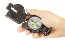 Free Boy With A Compass Royalty Free Stock Image - 24220846