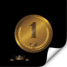 Free Gold Badge. Stock Photo - 24220900