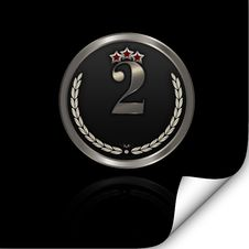 Free Silver Badge. Stock Photography - 24220902