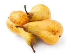Free Three Yellow Pears Stock Images - 24221324