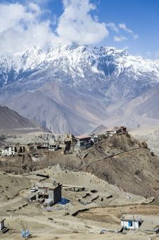 Small Village In Himalaya Stock Images