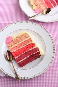 Free A Piece Of Cake With Buttercream Frosting Stock Photography - 24223242
