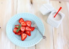 Free Strawberry With Sugar Stock Images - 24223424
