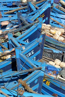 Free Old Blue  Rusty Boats Stock Photos - 24225793
