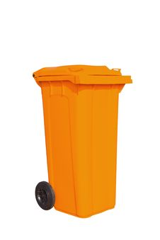 Free Large Orange Garbage Bin Royalty Free Stock Photos - 24229888