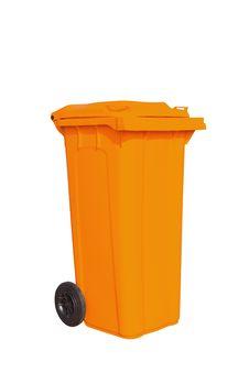 Free Large Orange Garbage Bin Royalty Free Stock Photos - 24229888