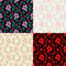 Free Vector Seamless Floral Pattern Royalty Free Stock Photo - 24221395
