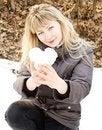 Free Girl Holding  Heart Stock Photos - 24230193