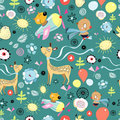 Free Pattern Of Funny Animals Royalty Free Stock Image - 24232696