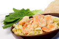 Free Fettuccine With Shrimp Royalty Free Stock Photo - 24234825