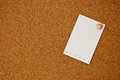 Free White Note Paper On Cork Board Stock Photos - 24236913