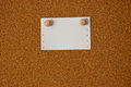 Free White Note Paper On Cork Board Stock Photography - 24236922