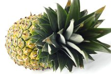 Free Closeup Fresh Pineapple Fruit Isolated Stock Photo - 24230250