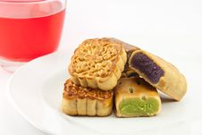 Free Moon Cakes Royalty Free Stock Photos - 24230338