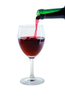 Free Glass With Red Stock Image - 24231151